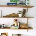 diy shelving with cabot stain {studio sneak peek}