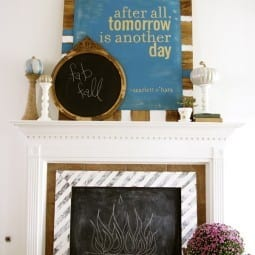 fall mantel art