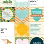 freebie of the month : positive printables