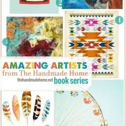 the handmade home book series: amazing artists