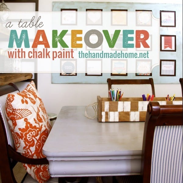 how to paint a nice table with chalk paint