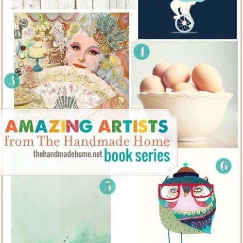 the handmade home book series : amazing artists (3)