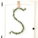 DIY Letter Wreath, Monogram Wreath, Rosemary (5)