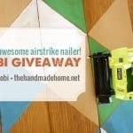 ryobi airstrike nailer giveaway!