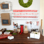 holiday gift wrap station