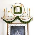 make a giant hula hoop wreath