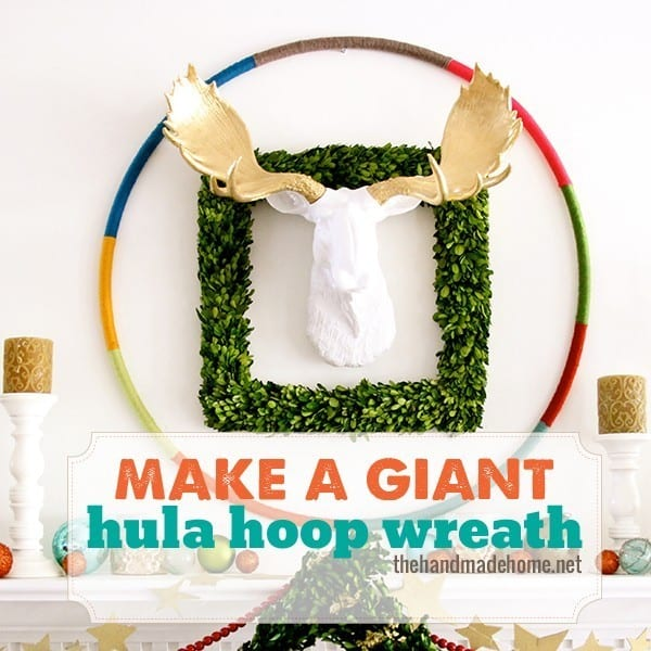make a giant hula hoop wreath