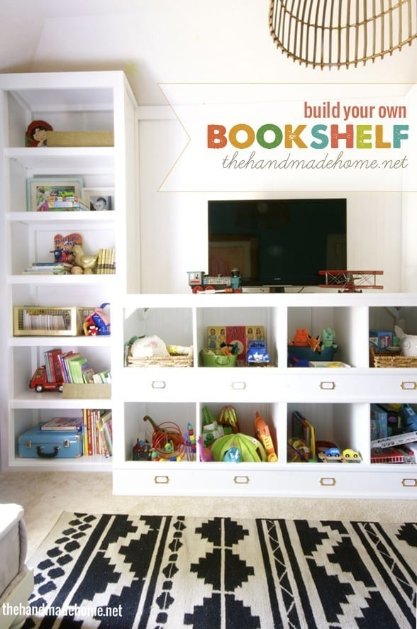 how to create a wall bookshelf
