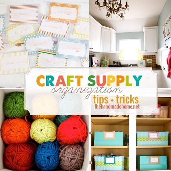 Craft supply organization tips and tricks the handmade home for Craft supply organization ideas