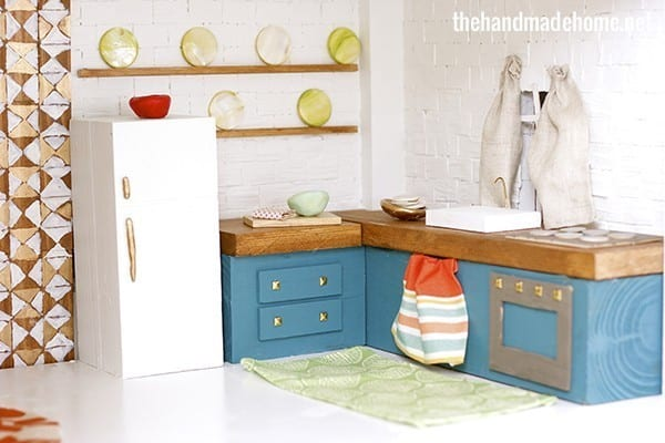 How To Make A Dollhouse Kitchen The Handmade Home