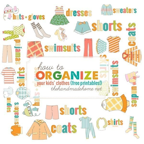 family photo clothing ideas fall 2014 - how to organize kids clothing The Handmade Home