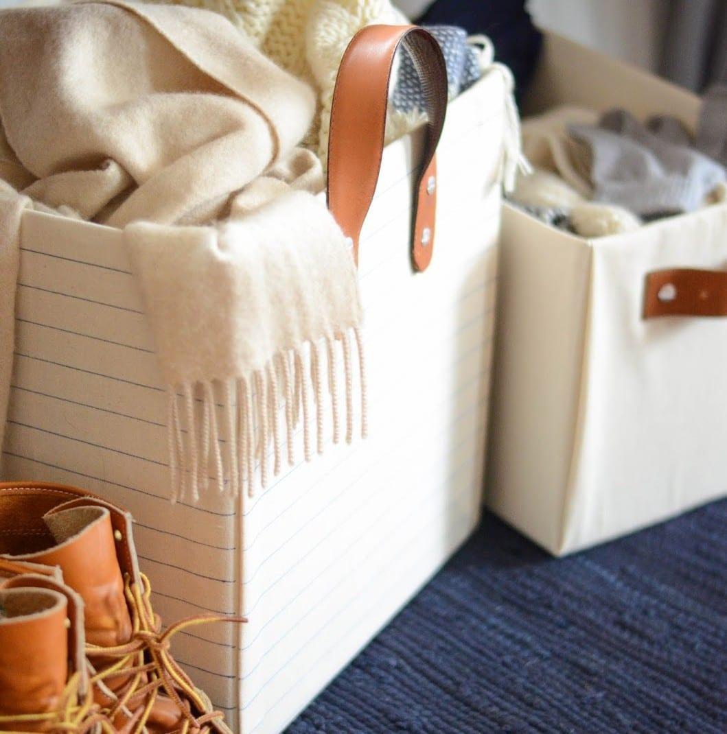 DIY Belt Handled Box, DIY fabric covered box, Iron and Twine (2)