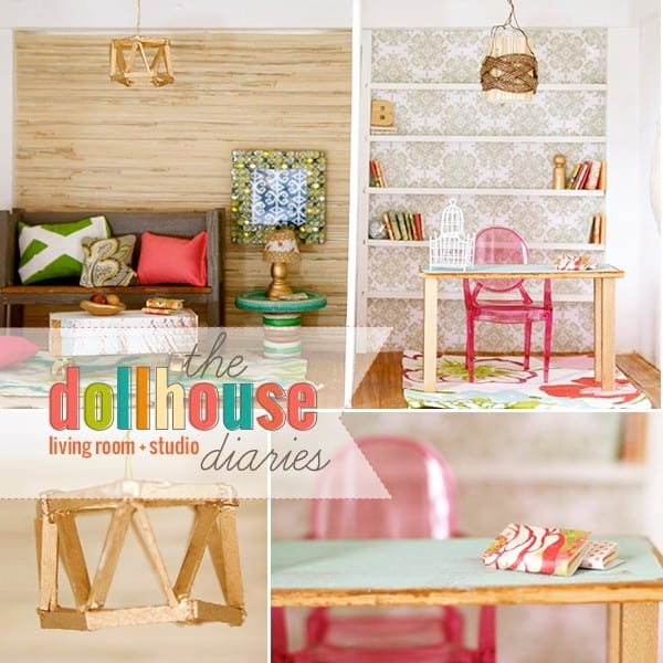 How To Make A Dollhouse Living Room Study barbie Scale