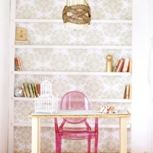 how to make a dollhouse living room + study {barbie scale}