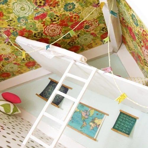 how to build a dollhouse loft