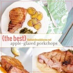 {the best!} apple-glazed pork chops