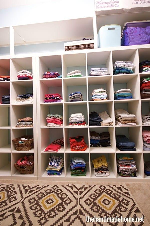 Family Closet The Shelving The Handmade Home