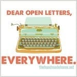 dear open letters, everywhere