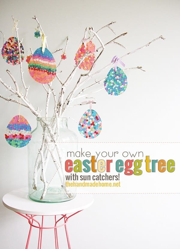 Our very favorite easter ideas the handmade home How to make an easter egg tree