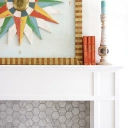 salvaged mantel makeover