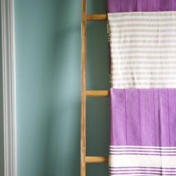 vintage ladder towel rack