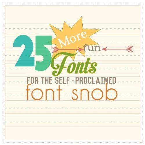 the font snob club: 25 more free fonts {June 2014}