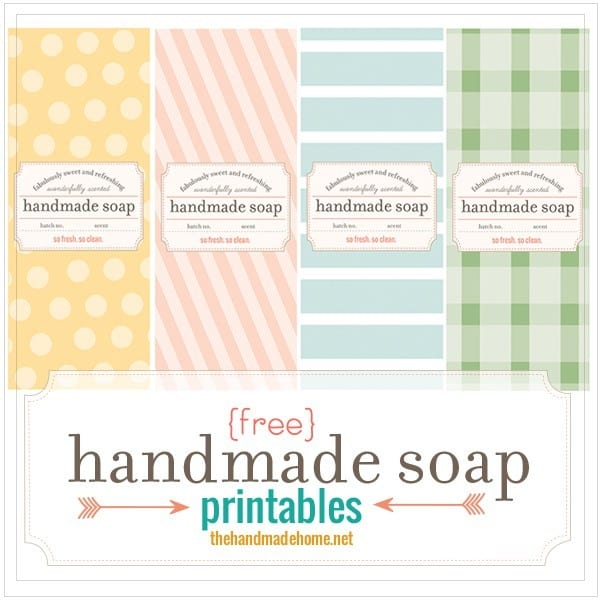 Breathtaking image with free printable soap label templates
