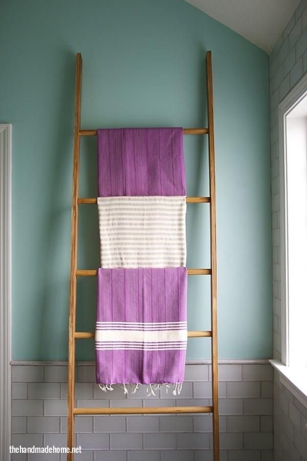 Vintage Ladder Towel Rack The Handmade Home