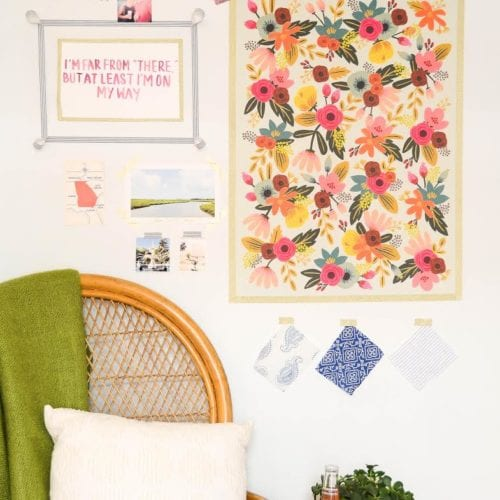 dorm room decor : easy gallery wall