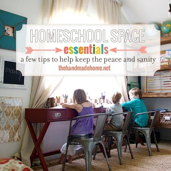 homeschool_space_essentials