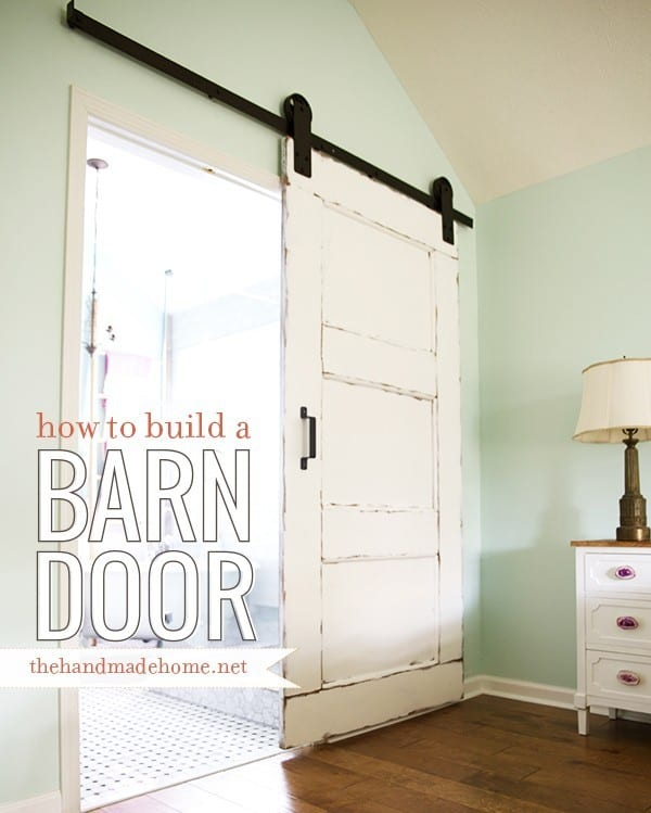 how to build a barn door The Handmade Home