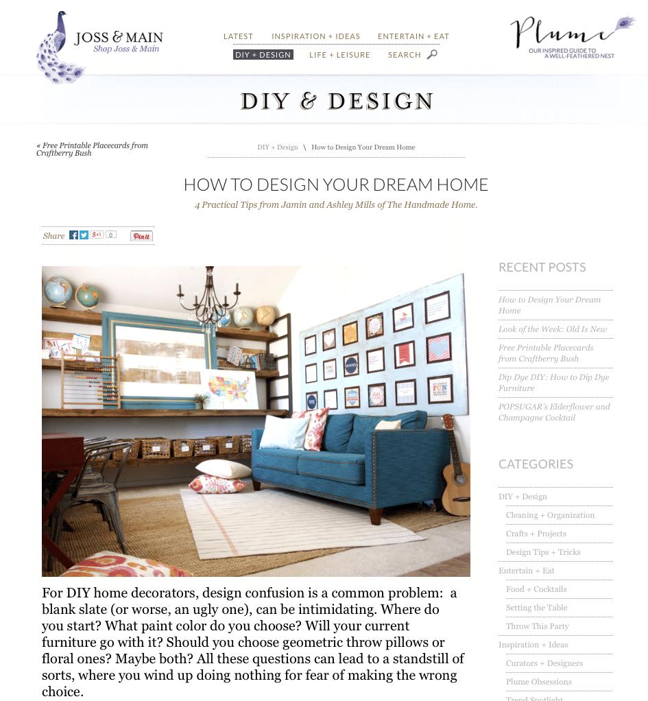 Website Like Joss And Main: Joss & Main Curator's Collection