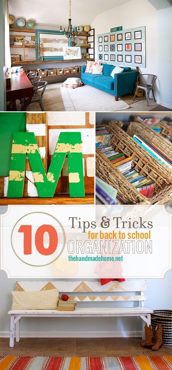 10 tips for back to school organization the handmade home - Back to school organization ...