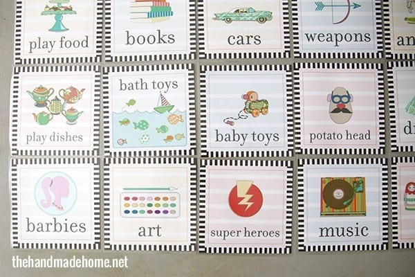 toy organization labels free