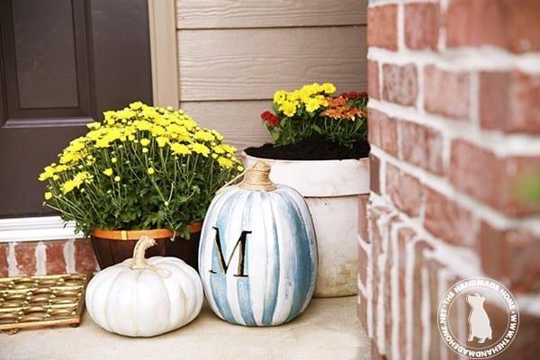 front_door_metallic_pumpkins