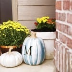 simple fall decor from the handmade home