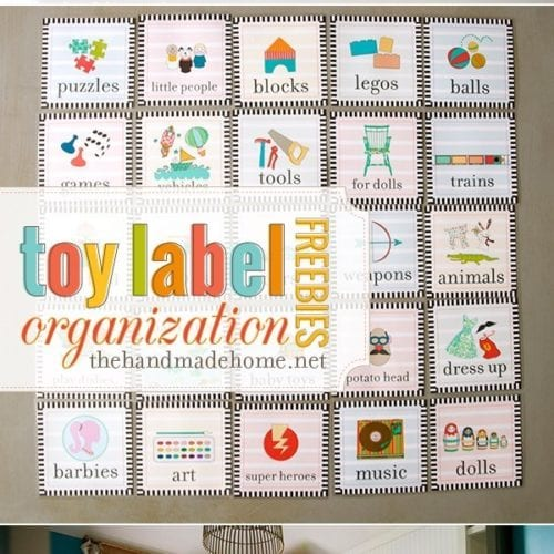 toy organization labels freebies