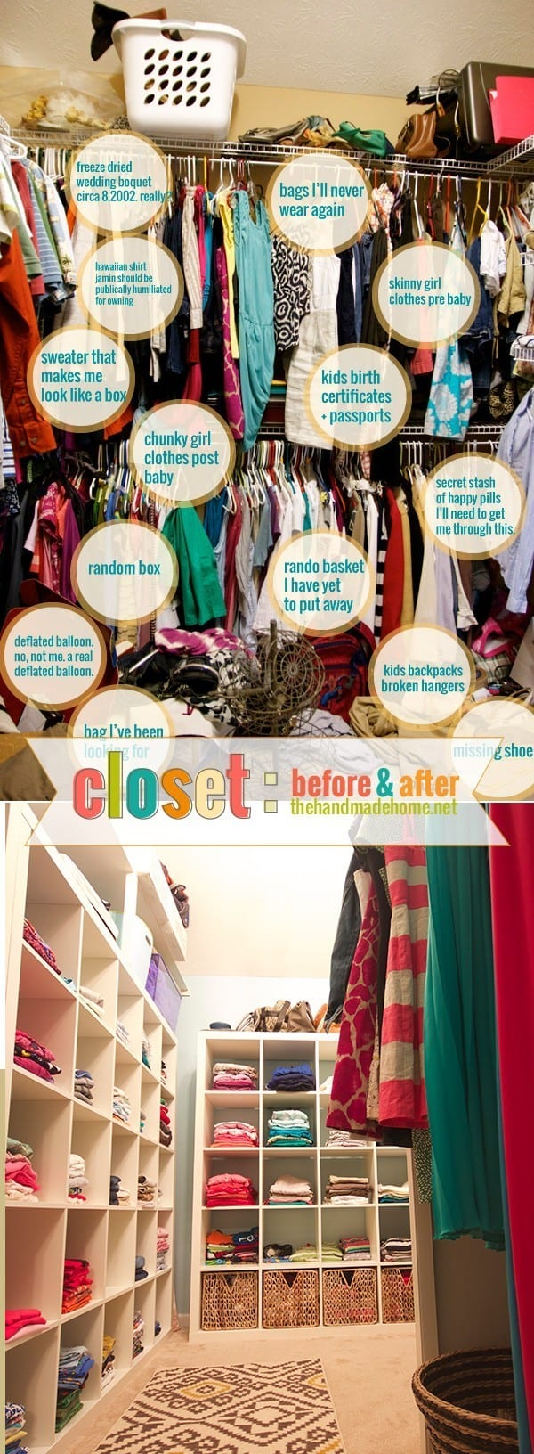 organization around the house - closet organization