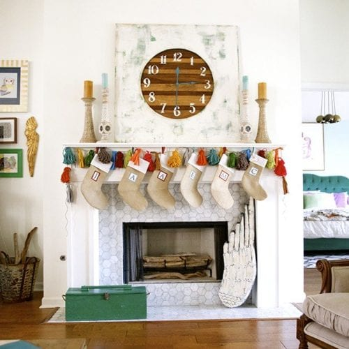 a good home giveaway {handmade stockings!}