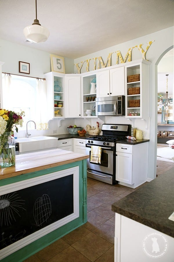 Paint colors in the home 2015 the handmade home for Bright kitchen paint colors