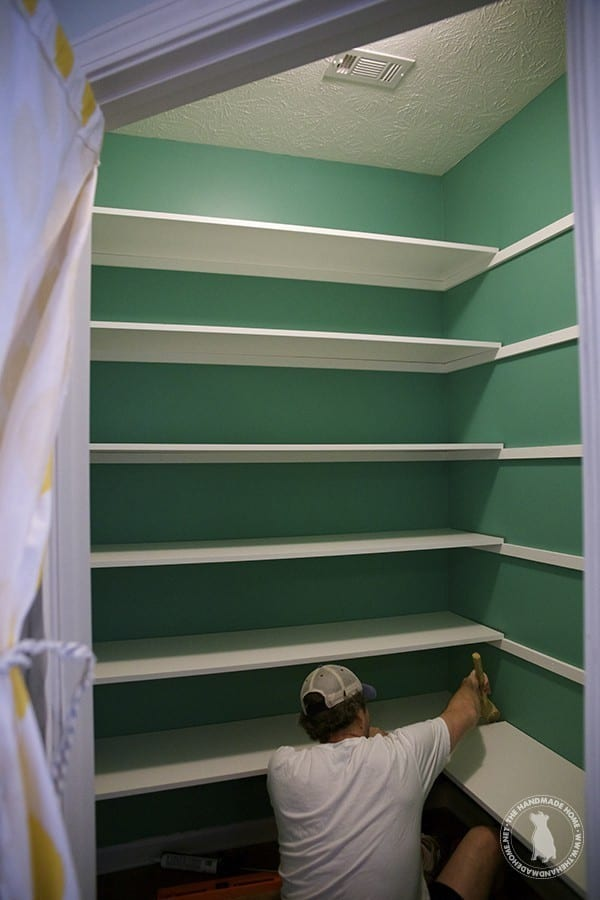 Favorite build easy pantry shelves - The Handmade Home DE75