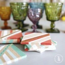 easy handmade coasters {& a ryobi giveaway!}