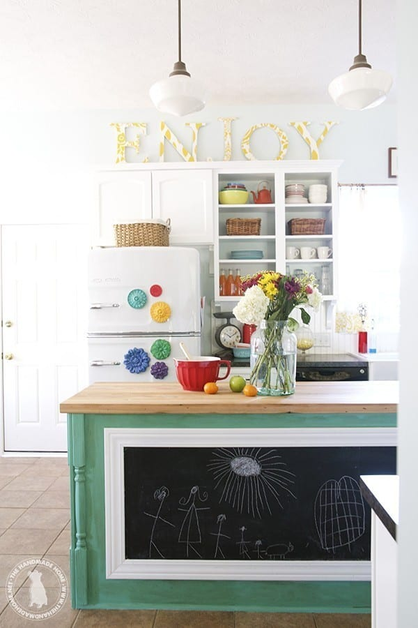 Make your own vintage sign the handmade home for Ideas for decorating space above kitchen cabinets