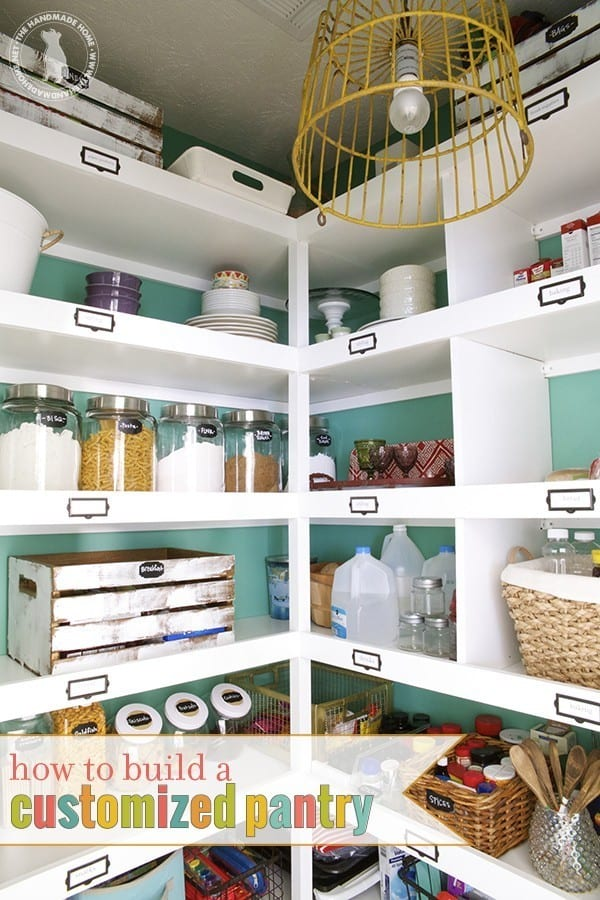 Build Easy Pantry Shelves