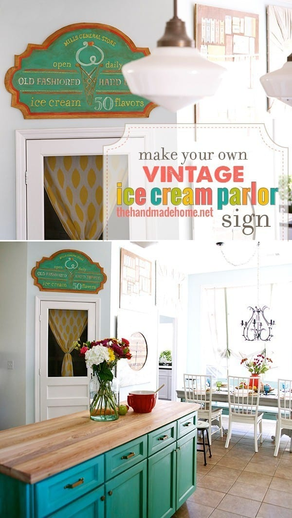 Make Your Own Vintage Sign The Handmade Home