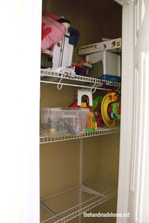 In Our Playroom Closet, Weu0027d Made An Effort With More Space, But It Just  Wasnu0027t Working. So We Knocked Out The Wall And Made A Walk Through Closet  To The ...