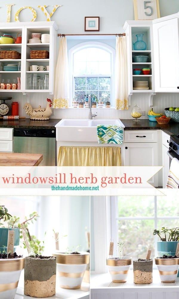 Windowsill Herb Garden The Handmade Home