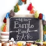 easy burrito bowl bar
