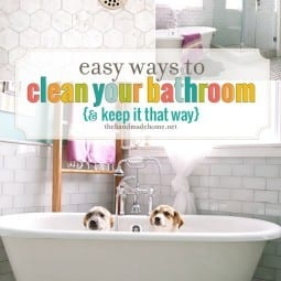 easy ways to clean your bathroom