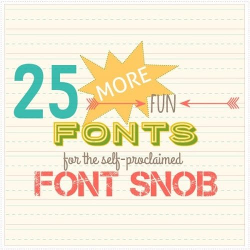the font snob club: 25 more free fonts {march 2015}